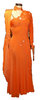 gebrauchtes Standardkleid orange